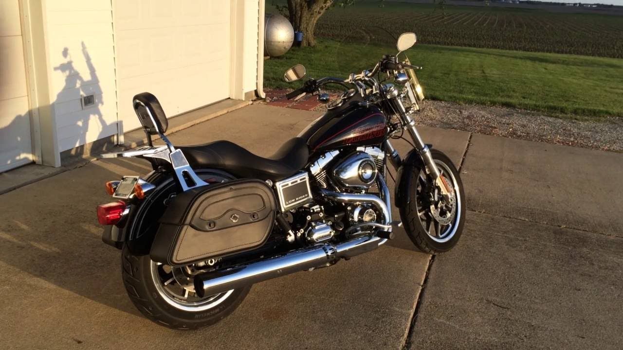2015 harley davidson dyna low rider motorcycle saddlebags review
