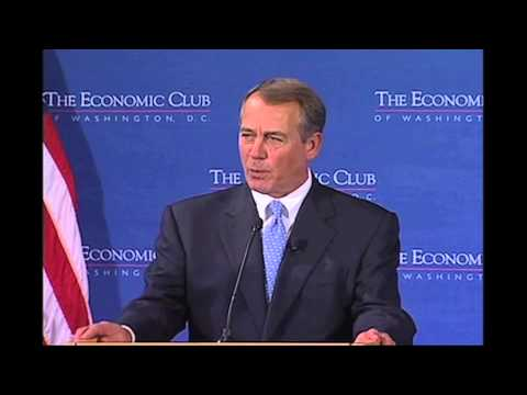 The Honorable John Boehner, Speaker of the House of Representatives