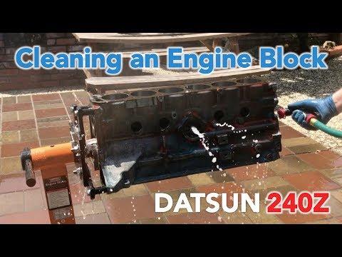 Cleaning an Engine Block - Datsun 240z