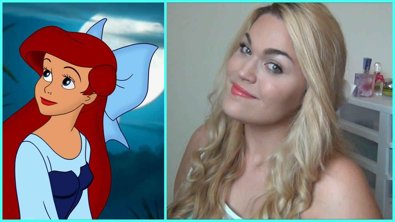 Disneys The Little Mermaid Ariel Inspired Makeup Hair Outfit