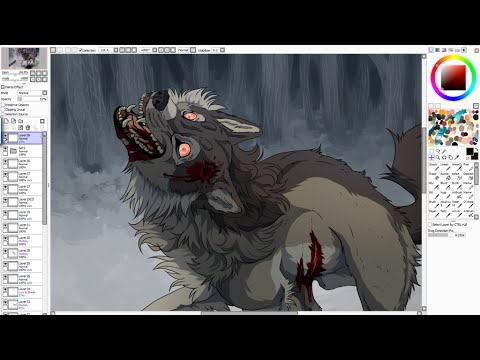 One Foot In The Grave - Wolf Speedpaint