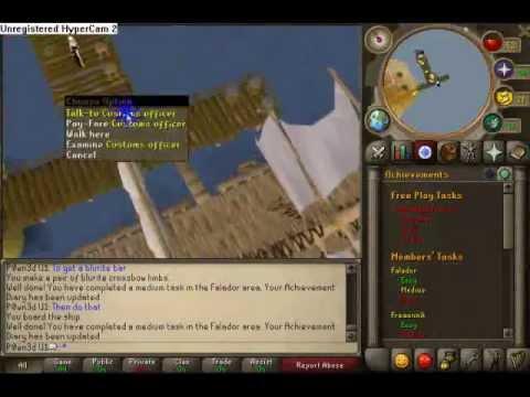 Runescape Falador Achievement Diary Medium Youtube
