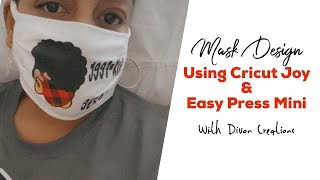How to design your face mask with Cricut Joy and Cricut Mini Heat Press