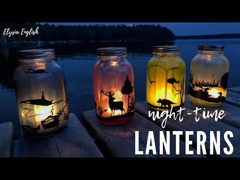 DIY Mason Jar Lanterns | Woodland Animal GLOW JAR | Night Light