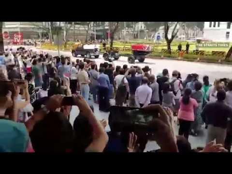 Funeral held for Singapore's longest-serving president
