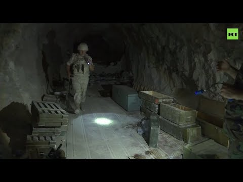 A tour inside Syrian rebels' cave network in Idlib