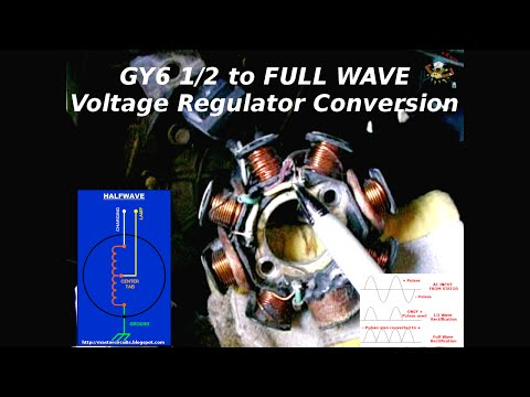 GY6 ~ 1/2 To FULL WAVE Charging System Conversion