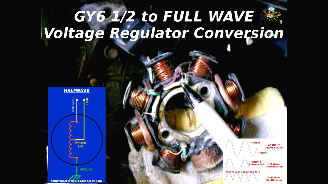 hight resolution of gy6 1 2 to full wave charging system conversion