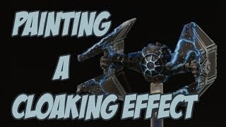 painting a cloaking effect on a tie interceptor