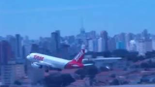 TAM A319 Arremete em Congonhas-SP