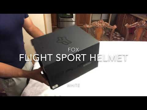Fox Flight Sport Helmet (2018 Unboxing)
