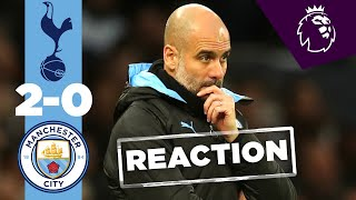PEP GUARDIOLA'S REACTION TO SPURS LOSS | TOTTENHAM 2-0 MAN CITY