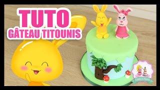 Gâteau d'anniversaire des Titounis - Tuto de gateau pour enfants -Titounis - Atelier de Roxane