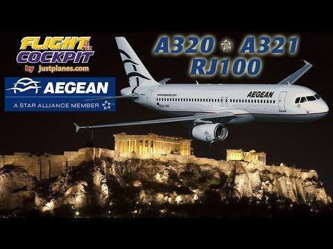 AEGEAN AIRLINES A320, A321 & AVRO RJ100