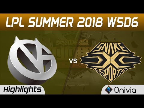 VG vs SS Highlights Game 1 LPL Summer 2018 W5D6 Vici Gaming  vs Snake Esports by Onivia