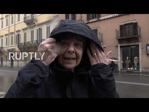 Italy: Italians react to early election results