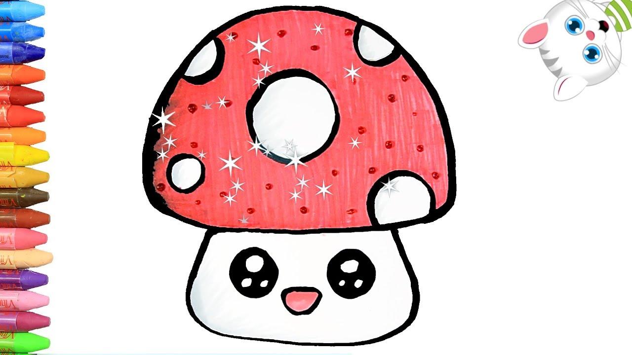 Cómo Dibujar y Colorear hongo feliz | Dibujos Para Niños con MiMi ...