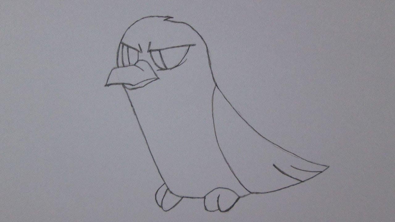 Cómo Dibujar Un Cuervo