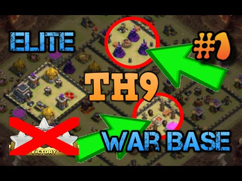 Clash of Clans | ELITE ANTI-3 STAR TH9 WAR BASE EXPLANATION | Base Explanation #1