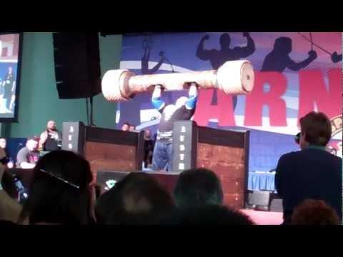 mike jenkins 460 log press arnold strongman 2012
