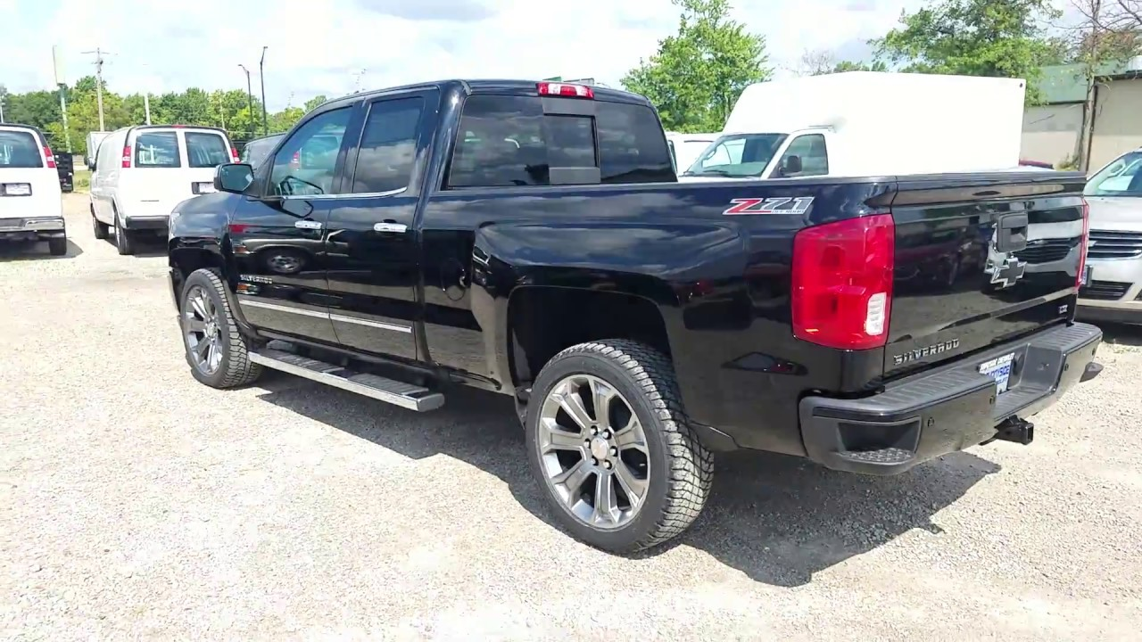 2017 chevy silverado 1500 ltz z71 double cab jet black full review youtube. Black Bedroom Furniture Sets. Home Design Ideas
