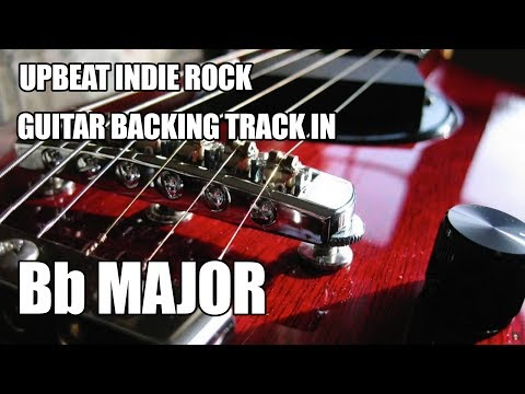 Upbeat Indie Rock Guitar Backing Track In Bb Major