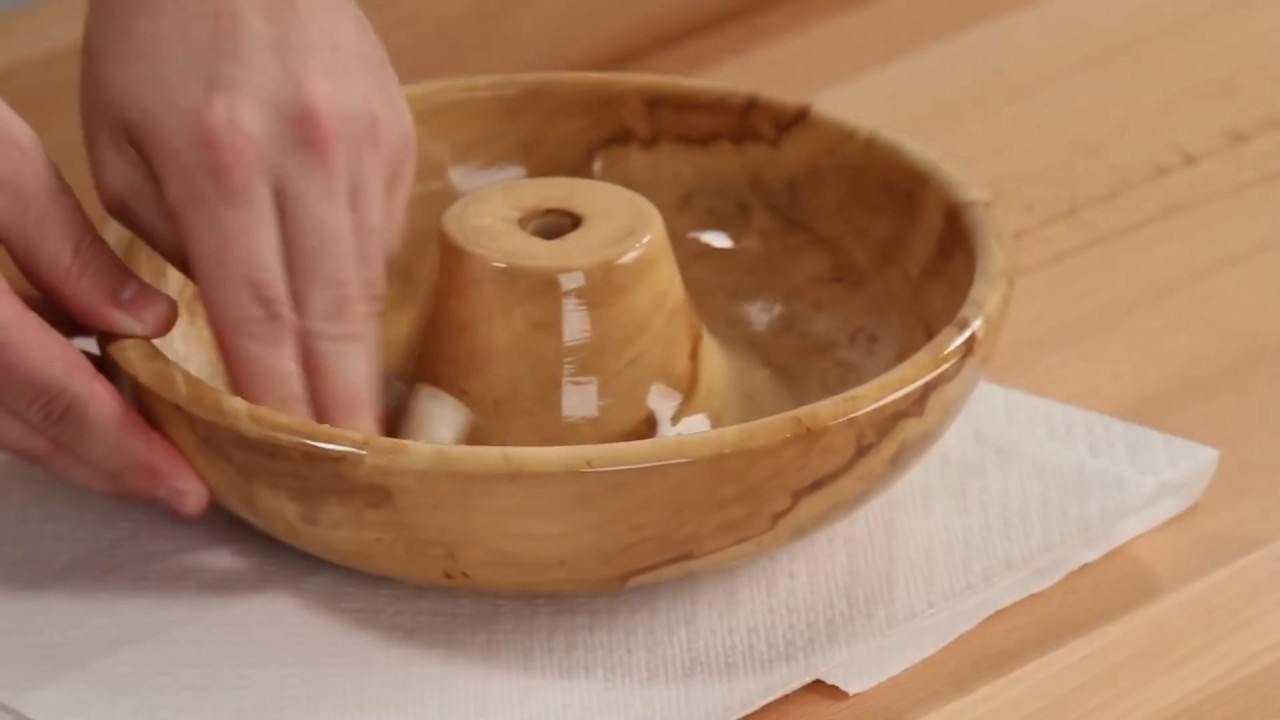 Woodturning Tips - How to apply Food Safe Finishes - YouTube