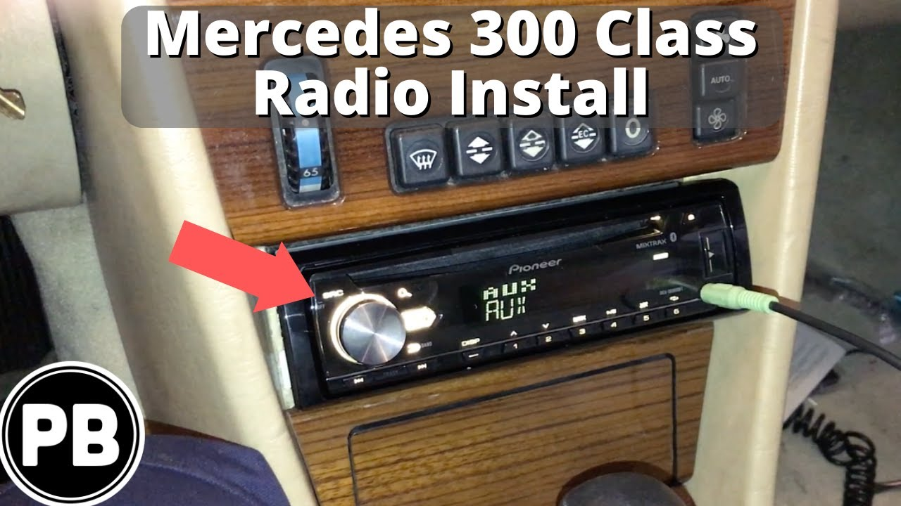 1985 - 1996 mercedes 300 class bluetooth stereo install w124 - youtube  youtube