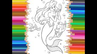The Little Mermaid Ariel Coloring Page