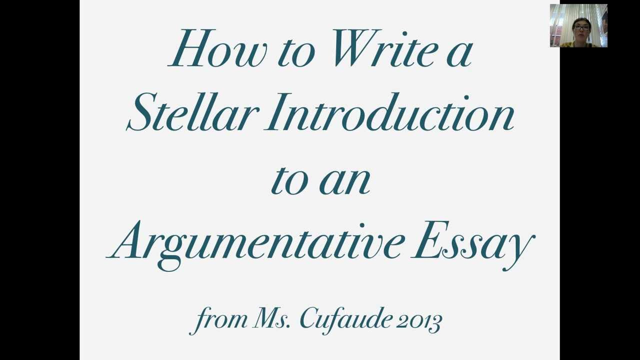 how to begin an argumentative essay examples