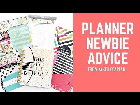 Planner Newbie Advice