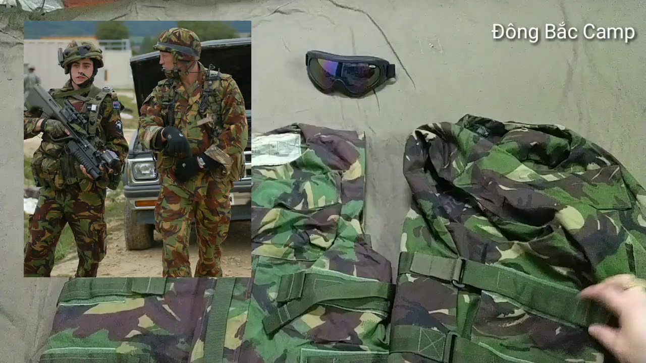 Vỏ áo giáp hộ thân, bọc ngoài lớp chống đạn Kevlar của lính Anh