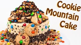 M&M's Cookie Mountain Cake (with Chocolate Chip Cookie Dough) from Cookies Cupcakes and Cardio