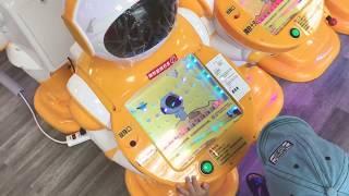 寶寶玩|這機器人彈珠台竟強烈誘發媽媽賭性, 來!再來!我要贏彈珠! 兒童新樂園