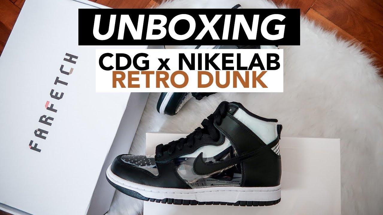finest selection 16b85 b9041 Comme Des Garçons x NikeLab Retro Dunk