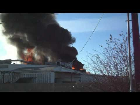 Three Alarm Fire at National Foods in Arlington, WA 11-10-2010