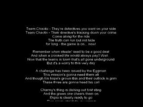 Team chaotix lyrics
