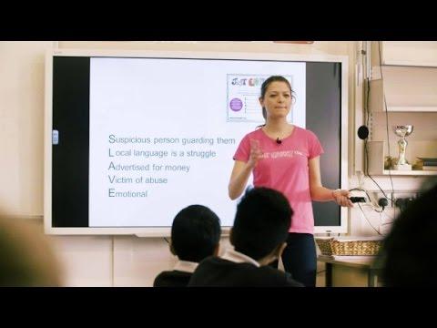 Teaching children the signs of human trafficking