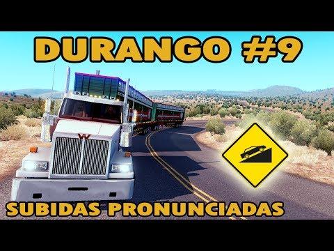 DURANGO #9 | Guanacevi, subidas pronunciadas! | Western Star 4900 | Mapa Mexico ATS
