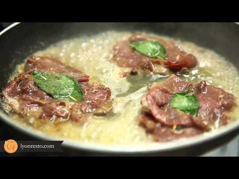 Recette de chef Italien rapide et gourmande ( Restaurant La Cantina - Saltimbocca )