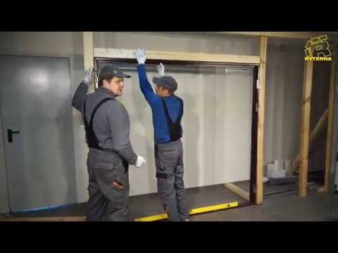 Side Hinged Garage Door Installation Youtube
