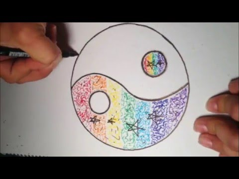 Colorful Yin Yang Symbol Drawing Youtube