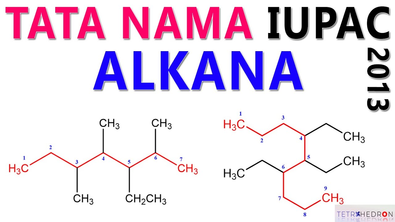 Tata Nama Alkana Menurut Aturan Iupac 2013 Youtube