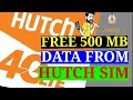 How to get 500MB free from hutch sim   HUTCH Data  tricks