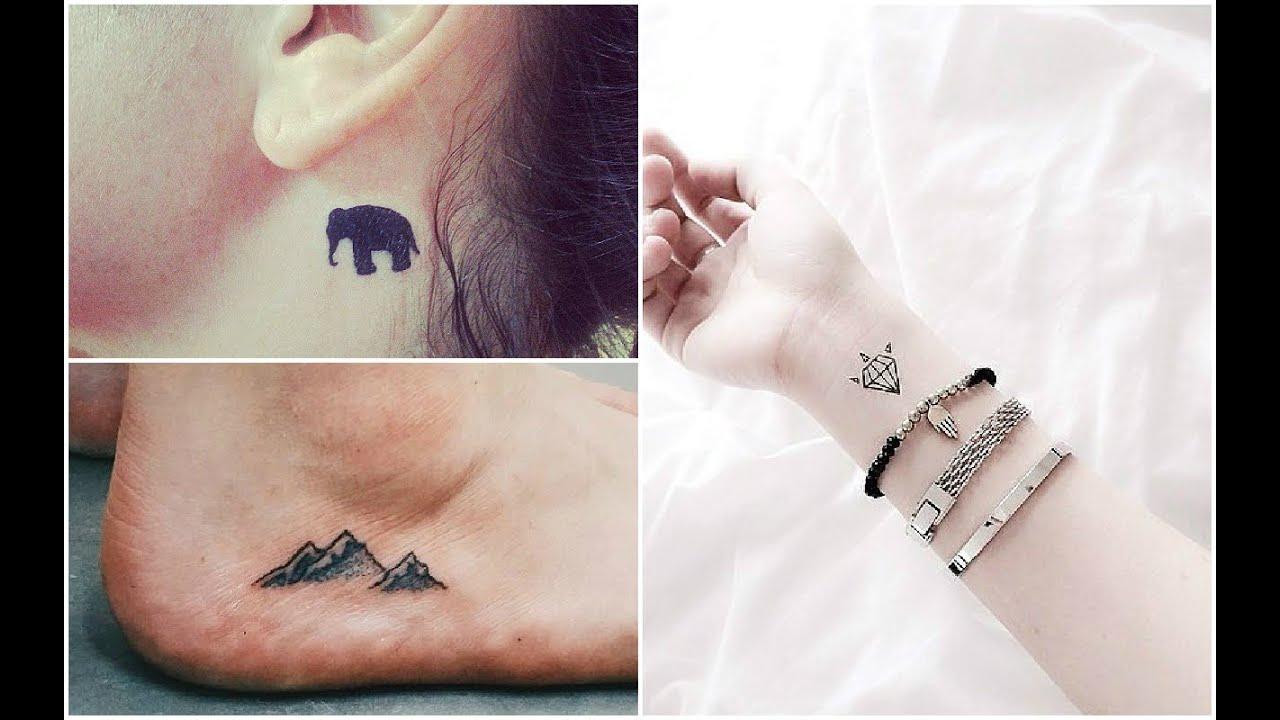 Increibles tatuajes pequeos para mujeres Sugerencias YouTube