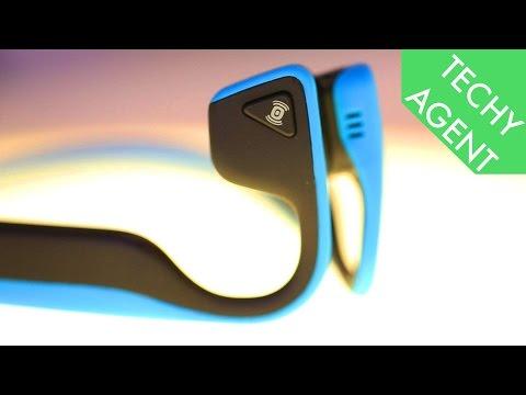 Aftershokz Trekz Titanium Bluetooth Headphones - Hands On at CES 2016