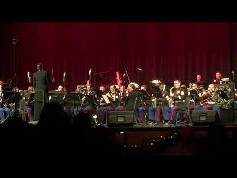 "Parris Island Marine Band Plays ""Sleigh Bells"" held at Battery Creek High School"