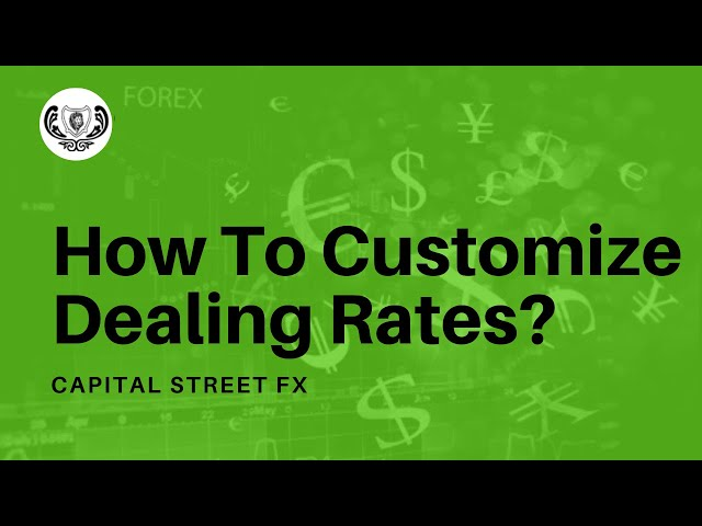 How To Customize Dealing Rates Table In Your Trading Platform | Capital Street Fx