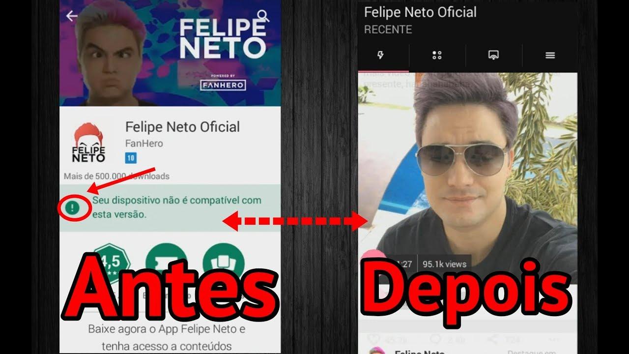 Como Baixar O App Do Felipe Neto Em Qualquer Android Youtube