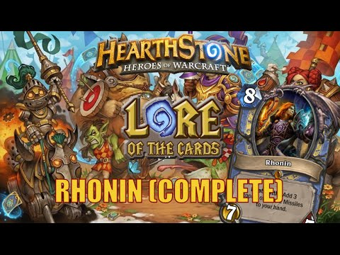 Hearthstone | Lore Of The Cards | Rhonin (Complete)